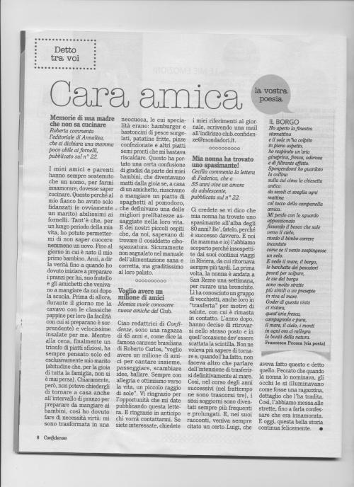poesia il Borgo di Franco Pecora pubblicata dal giornale Confidenze 001